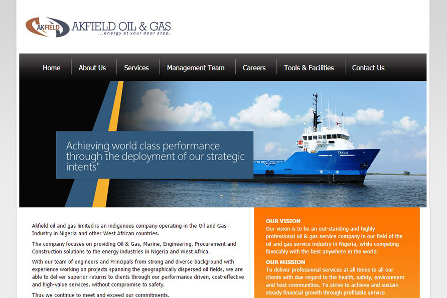 Akfieldoil Website