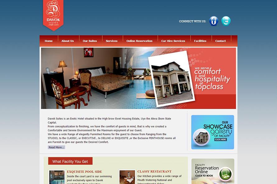 Davok Suites Website