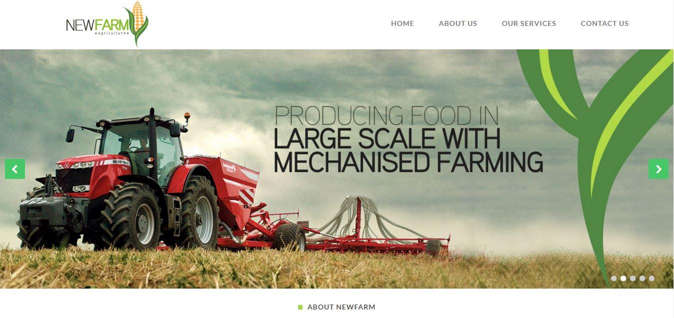 Newfarm website Project