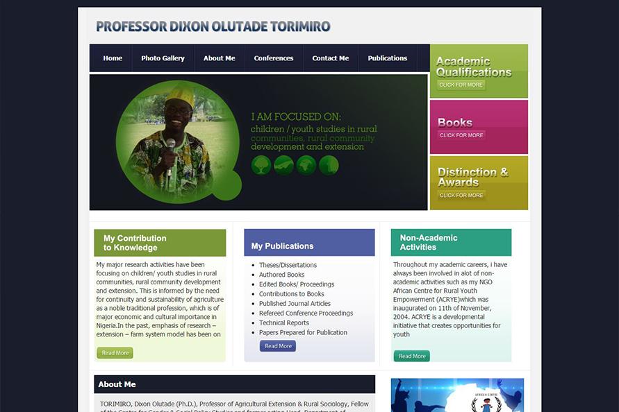 Professor Torimiro Website